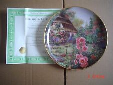 Franklin Mint Collectors Plate HOLLYHOCK COTTAGE