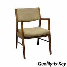 Vintage Mid Century Modern Walnut Office Desk Arm Chair Danish Style Gunlocke