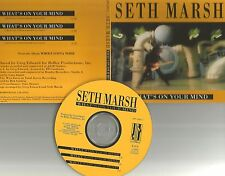 SETH MARSH What's On Your Mind REPEATED 3 TIMES w/ BAND PHOTO PROMO DJ CD Single