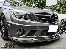 For W204 C63AMG 2008-2011 Only Carbon AK Style Front Bumper Spoiler Lip