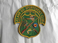 Vintage Clark County Sportsmen's Club Springfied Ohio Hunting and Fishing Patch