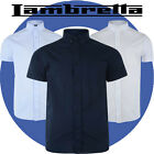 Lambretta Mens Classic Chambray Short Sleeved Shirts 3 Colour Button Down Collar