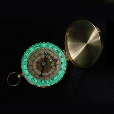 Pocket Watch Flip Compass Luminous Glow In The Dark Outdoor Camping Survial Tool