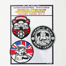 """STAR WARS """"Imperial Stormtrooper"""" Iron-On Patch Super Set #003 - FREE POSTAGE!"""