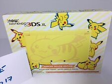 NEW Nintendo 3DS XL - PIKACHU YELLOW On Hand. No State Taxes To USA Buyers