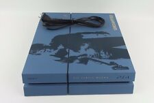 Blue Sony PlayStation 4 PS4 500GB Uncharted 4 Limited Edition CUH-1215A #l0zB