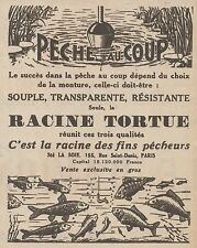 Z8131 Peche au Coup - Racine Tortue - Pubblicità d'epoca - 1930 Old advertising