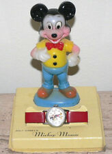 1960 Mickey Mouse Ingersol Watch ,Working With Mickey Mouse Figurine