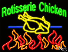 "NEW ""ROTISSERIE CHICKEN"" 31x24 LOGO REAL NEON SIGN W/CUSTOM OPTIONS 11266"