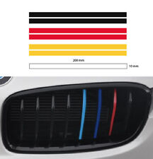 2set German flag M grill 10mm stripe BMW sport decal sticker vinyl 3 color