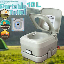 10L Portable Camping Toilet Flush Porta Travel Outdoor Vehicle Boat Toilet Potty