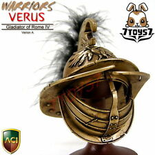 ACI Toys 1/6 Gladiator Verus A_ Helmet w/ black feather_Roman Warriors IV AT042G