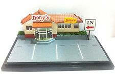 NEW DONY'S SHOP DIORAMA DISPLAY CITY SCENE 1:64 FOR CHORO Q TOMICA CAR SSS-013M