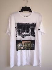 NEW ROARK REVIVAL TEE T-SHIRT SIZE M SURF WHITE GRAPHIC, SHORT SLEEVE CUBA LIBRE