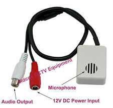 Adjustable Wide Range Spy Hidden Covert 12V CCTV Microphone Mic CCTV Camera DVR