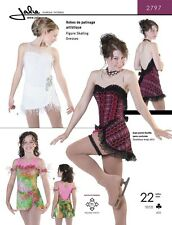 Jalie Sweetheart Neck Figure Skating Dancing Dress Costume Sewing Pattern 2797