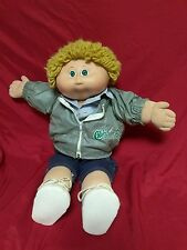 Cabbage Patch Kids Doll CPK '84 Xavier Roberts Coleco Green Eyes Blonde Jacket
