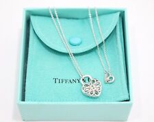 Tiffany & Co. Sterling Silver Filigree Lock Heart Pendant Necklace