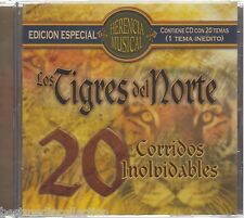 SEALED - Los Tigres Del Norte CD 20 Corridos Inolvidables Herencia BRAND NEW