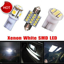 11PCS White LED Lights Interior Package for T10 & 31mm Map Dome For Lexus Mazda