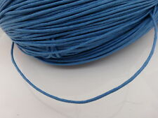 10 Meters Blue Waxed Cotton Cord 1.5mm Beading Thread Jewelry Making Thong
