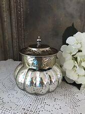 Nostalgie Dose Glas Bauernsilber Vintage Silber NEU