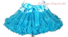 Peacock Blue Adult Woman Girl Pageant Full Chiffon Pettiskirt Party Tutu
