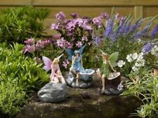 3 Fairy Faries Angels Magical Statue Garden Ornamant Solar Power Spotlights LED