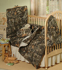 REALTREE MAX 4 CAMOUFLAGE CAMO CRIB BEDDING  - 6 PCS!! NEW BABY, INFANT