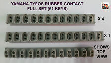 Yamaha tyros key rubber contact set complet 4x12way, 1x13way 61 clés sensing switch