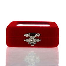 Red Velvet Gift Jewelry Box Case Display Holder for Ring Bracelet Earrings DW