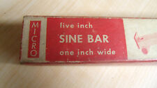 "FISHER 5"" SINE BAR / PLATE machinist tools 5 3/4 x 1 inches x 1"" Hardened"