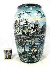 Wunderschöne von Hand bemalte HANS EDER Gmunder Keramik Vase Austria CH / 25