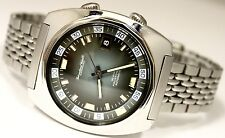 Vintage IWC Aquatimer Automatic Stainless Blue Dial 40mm Circa 1970s 816 Watch