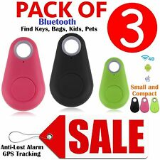 3x SMART TAG BLUETOOTH TRACKER CHILD KEY FINDER PET TRACER LOCATOR REMOTE BUTTON