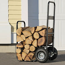New Shelter Logic Wood Mover Hauler Fire Rack Caddy Cart Firewood Carrier Dolly
