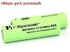 2X Brillipower 18650 3100mah 40Amp High Drain Rechargeable Mod Battery US Seller