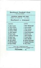 Southport v Liverpool Liverpool Senior Cup Final Football Programme 1976