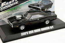 DODGE CHARGER R/T moviecar Fast and Furious anno di costruzione 1970 NERO 1:43 Greenlight