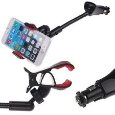 Car Cigarette Lighter USB Charger Mount Holder Fr iPhone GPS Samsung HTC LG iPod