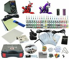 Complete Tattoo Kit 2 Machine Set Equipment Power Supply 40 Color  Inks TKA-6-2