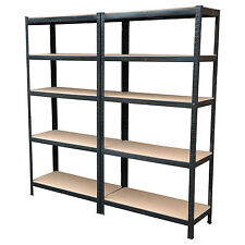 4 x Heavy Duty Boltless Shelving Rack 5 Tier Home Warehouse Shop Display Garage