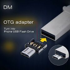 DM USB to Micro USB Male OTG Adapter-SILVER for USB Stick / Phone / Tablet etc.