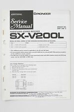 PIONEER SX-V200L A/V STEREO Receiver ADDITIONAL Service-Manual/Schaltplan o73