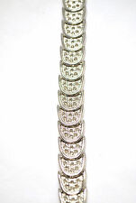 "SALE: LADIES 8"" HEALING MAGNETIC THERAPY LINK BRACELETS: Silver Moons 4 PAIN!"