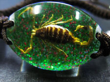REAL GOLDEN SCORPION BLACK LUCITE BRACELET BANGLE INSECT TAXIDERMY GIFT MIX ROPE