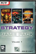Strategy Game Pack PC DVD ( Super Power 2 / Besieger / Against Rome) Used