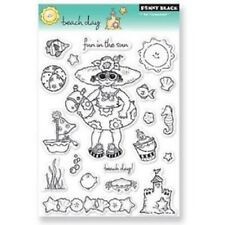 PENNY BLACK RUBBER STAMPS CLEAR BEACH DAY FUN SUMMER SET