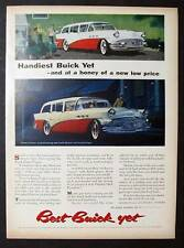 1956 Buick Station Wagon Ad FEATURES THE ESTATE SPECIAL Handiest Buick Yet