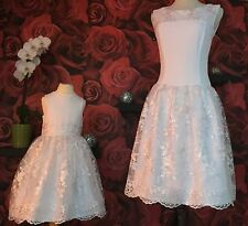 Mother And Daughter Matching Dresses In White For Wedding  Occasion outdoor